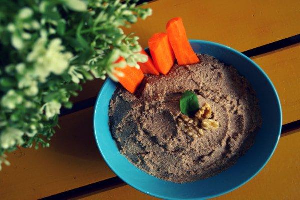 receta de paté de lentejas y nueces