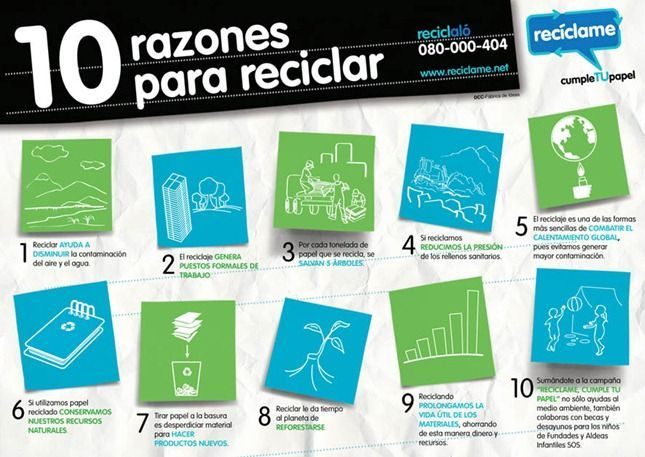 razones para reciclar