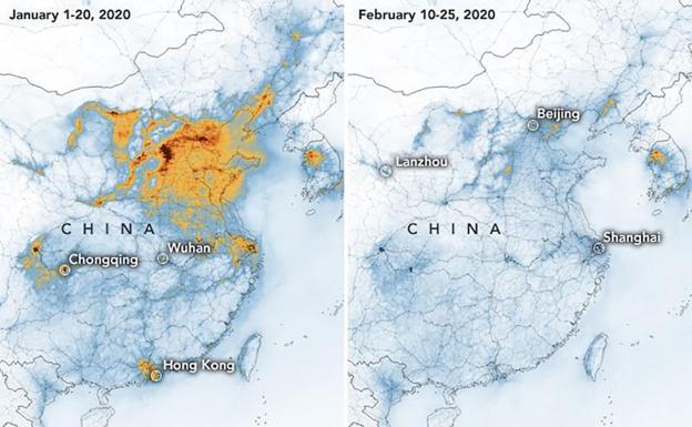 contaminación en China y coronavirus