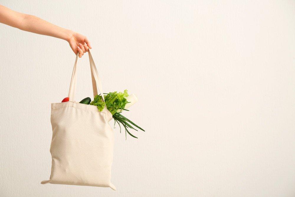 bolsas de tela para evitar el plastico fuera de casa